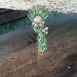 green-flower-pin
